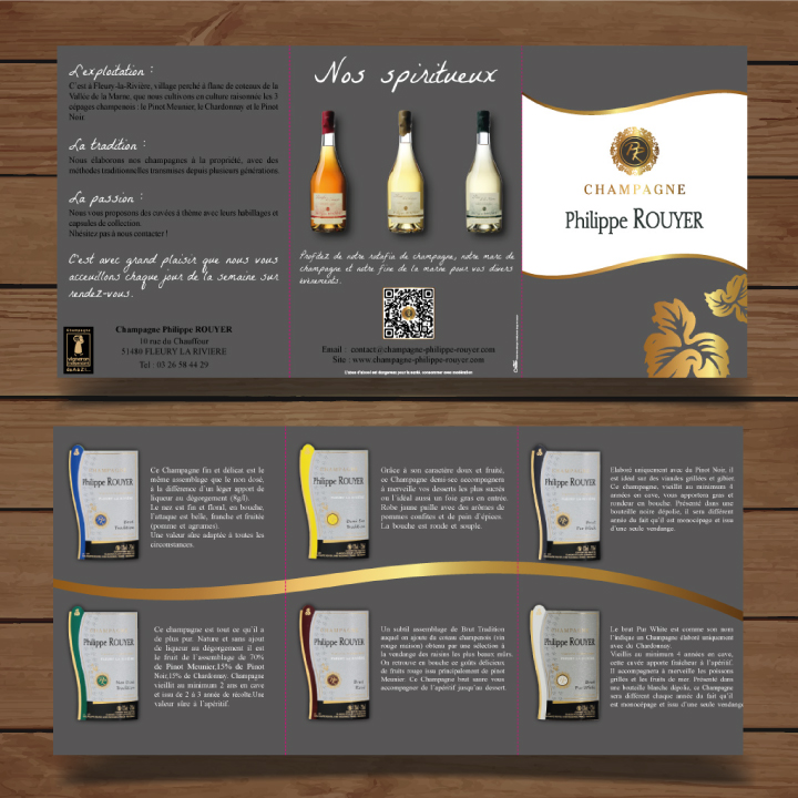 confection flyers champagne Rouyer loren-n creation agence de communication epernay champagne